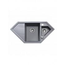 Kuchynský drez TEKA ASTRAL 80 E-TG, hliníkovo sivá 2