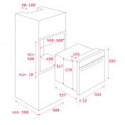 Multifunkčná rúra TEKA HLB 860 MAESTRO, biele sklo 2