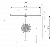 Varná doska BORA BHU, Basic, recirkulácia 2